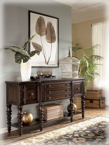 Traditional Dark Brown Key Town Truffle Dining Room Server