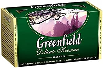 Greenfield Black Tea quotDelicate Keemunquot 25 Tea Bags