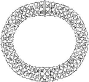 18k White Gold 28-1/6ct TDW Diamond Necklace