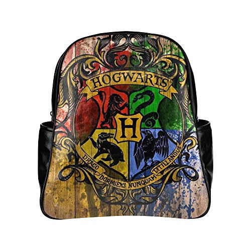 2buymore Custom School Bag Backpack Classic Movies Harry Potter Multi Pockets Backpacks PU Leather 20.1 Oz