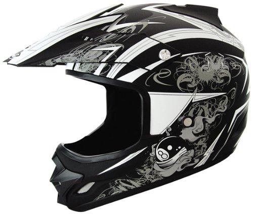 THH Helmets Online Stores  THH TX-22 8-Ball Helmet - Small Black Silver d73d4ac29c8b5