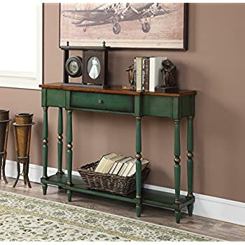 Convenience Concepts Wyoming Two Tone Antique Console Table