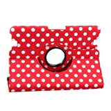 Generic Multi-Colour Big Polka Dot Pattern PU Leather 360 Degrees Rotating Smart Cover Case Stand for Kindle Fire HD 8.9