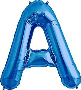 Amazon.com: Letter A - Blue Helium Foil Balloon - 34 inch: Toys