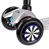 Black and White Micro Scooter Wheel Whizzers for Mini & Maxi Scooters