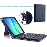 MoKo Samsung Tab A 8.0 Case - Wireless Bluetooth Keyboard Cover Case For Samsung Galaxy Tab A 8.0 Inch Tablet SM-T350, INDIGO (With Smart Cover Auto Wake / Sleep)