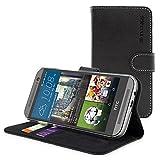 HTC One M9 Hülle (Schwarz), SnuggTM - Flip Case mit...