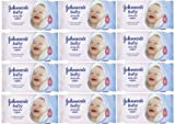 12x Johnsons Baby Skincare Wipes (NEW)