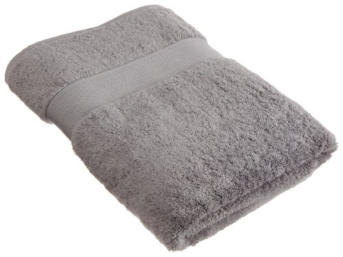 Pinzon Oversized and Luxurious 100-Percent Supima Cotton Bath Towels, Opulence Gray