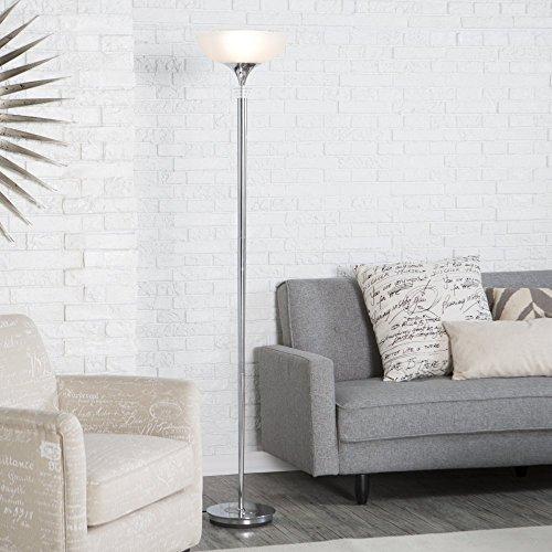 Adesso 5120-22 Metropolis Floor Lamp, Chrome