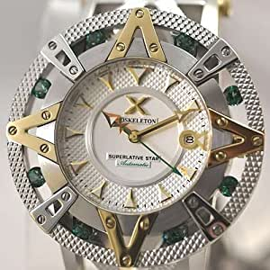 XOSKELETON Men's Limited Edition Automatic Superlative Star Green Topaz Watch. Model: 11SPSA1005YSGT