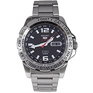 Seiko 5 Sports Automatic Black Dial Stainless Steel 100M Mens Watch SRP683