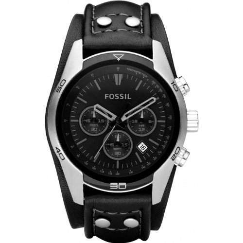 Fossil Men's Black Chronograph Watch - CH2586