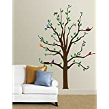 AllPosters, 'Tree With Multi-Colored Birds', Wall Decal (Decal, 152 Cm X 61 Cm)