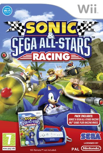 Sonic  &  SEGA All-Stars Racing - With Wheel (Wii)  - Wii Remote Not Included