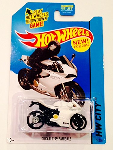 2014 Hot Wheels Hw City 36/250 - Ducati 1199 Panigale - White - 1