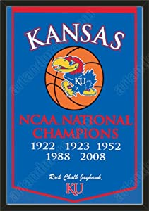 Dynasty Banner Of Kansas Jayhawks-Framed Awesome & Beautiful-Must For A... by Art and More, Davenport, IA