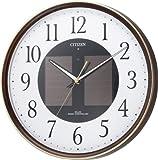 CITIZEN (シチズン) 掛け時計 エコライフM807 電波時計 ソーラー電源 エコマーク商品 4MY807-023