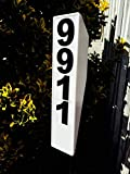 Solar Lighted Address Plaque - Address Sign For Your Home - Allow Emergency Responders, Delivery Drivers , and Visitors to find your home qucikly