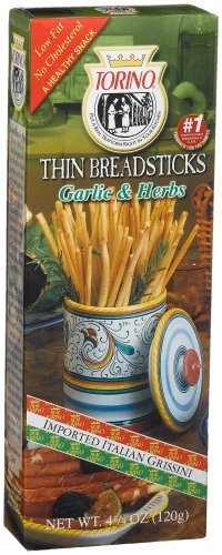 Torino Garlic &#038; Herb Thin Breadsticks, 4.25-Ounce Boxes (Pack of 12)