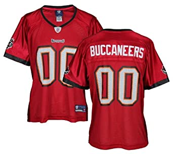 Tampa Bay Buccaneers NFL Team #00 Buccs Ladies Replica Jersey, Red (S, Red) by NFL Sports