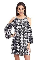 OSHEA Women's Dress (2020DRSS, Black And White, S)