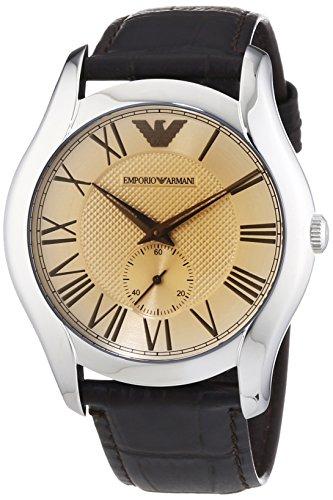 Emporio Armani  AR1704 - Reloj de cuarzo para hombre, con correa de cuero, color marrón