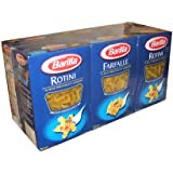 Barilla Pasta Rotini and Farfalle Value Pack 3 Farfalle and 3 Rotini 1 Pound Boxes