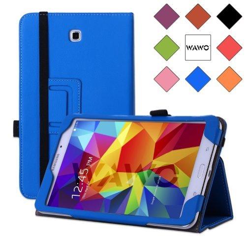Wawo Samsung Galaxy Tab 4 8.0 Inch Tablet Smart Cover Creative Folio Case - Blue front-1077084