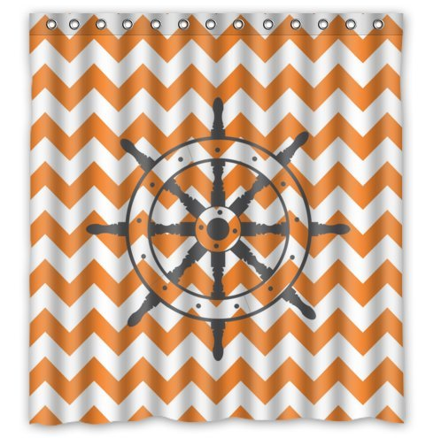 Ship Wheel & Orange Chevron