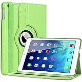 Bestwe Grün 360° Ledertasche Flip Case Tasche Etui für Ipad Air mit Ständerfunktion -Multi Color Options