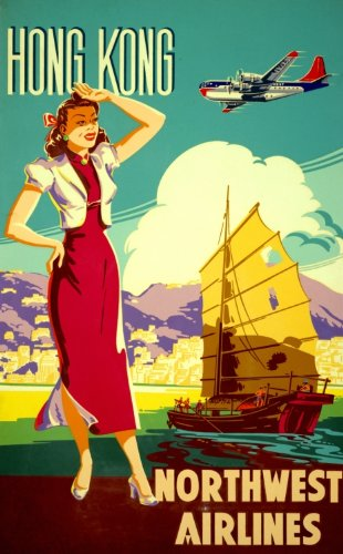 1950s-hong-kong-northwest-airlines-poster