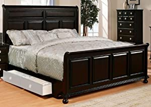 6. Amherst Espresso Eastern King Sleigh Bed With Storage Drawers