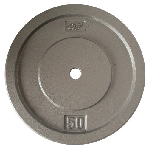 Cap Barbell Free Weights Gray Standard Plate (50-Pounds)