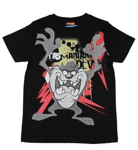 looney-tunes-tasmanian-devil-t-shirt-noir-noir-10-ans