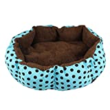 ABC® Fleece Pet Dog Cat Warm Bed House Plush Cozy Nest Mat Pad (Blue, Small:36cmX30cm)