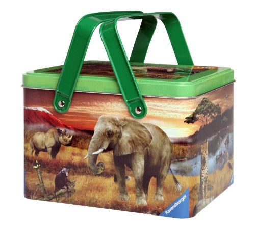 Ravensburger Animal Planet: Safari Friends - 100 Pieces Puzzle In A Picnic Tin