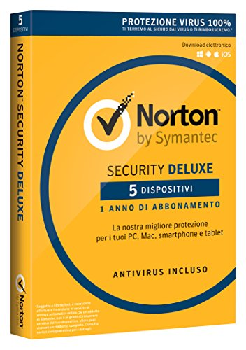 Symantec Norton Security Deluxe 3.0 - Seguridad y antivirus (Android, iOS, ITA, Caja, Full license)