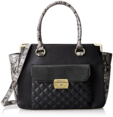 Anne Klein Mix It Up Shoulder Bag, Black/Grey, One Size
