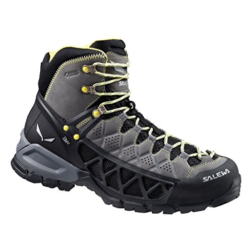 Salewa Men's MS ALP Flow Mid GTX Hiking Shoe, Smoke/Yellow, 10.5