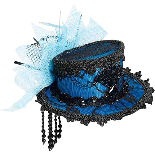 Mini Blue Lace Top Hat - One Size