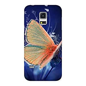 Yellowish Butterfly Back Case Cover for Galaxy S5 Mini