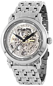 "Stuhrling Original Men's 165A.33112 ""Classic Winchester Elite"" Stainless Steel Automatic Skeleton Watch"