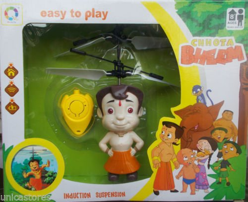 Wish Key Flying Chhota Bheem Sensor And Remote Operated remote control helicopter For Boys Girls Baby/Kids  available at amazon for Rs.399
