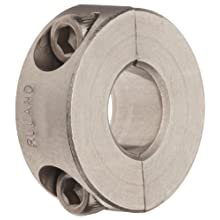 Ruland Two-Piece Clamping Shaft Collar, Stainless Steel 303