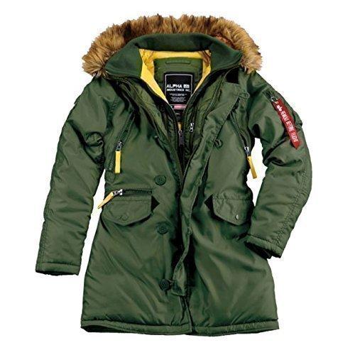 Alpha Ind. Frauen-Jacke PPS N3B Wmn – dark green günstig online kaufen