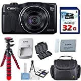 Canon Powershot SX710 HS 20.3MP Camera with 32GB High Speed Memory Card + Deluxe Camera Case + Flexible Spider Tripod + Starter Kit Deluxe Accessory Bundle