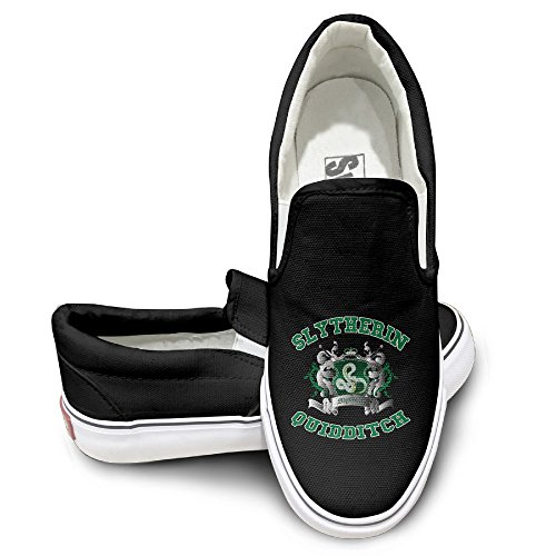 [OOONG Slytherin Quidditch Casual Slip On Canvas Shoes Flats] (Hermione Granger Costume Casual)