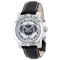 [ハンティングワールド]Hunting World 腕時計 イリス ホワイト 黒革 クォーツ HW913WHBK メンズ 【正規輸入品】