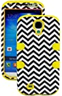 myLife (TM) Yellow - Chevron Design (3 Piece Hybrid) Hard and Soft Case for the Samsung Galaxy S4 Fits Models: I9500, I9505, SPH-L720, Galaxy S IV, SGH-I337, SCH-I545, SGH-M919, SCH-R970 and Galaxy S4 LTE-A Touch Phone (Fitted Front and Back Solid Cover Case + Internal Silicone Gel Rubberized Tough Armor Skin + Lifetime Warranty + Sealed Inside myLife Authorized Packaging) ADDITIONAL DETAILS: This three layer Galaxy S4 armor skin gel fit together case is made of grip easy smooth silicone and hardshell plates that slide in to your pocket easily yet won't slip out of your hand